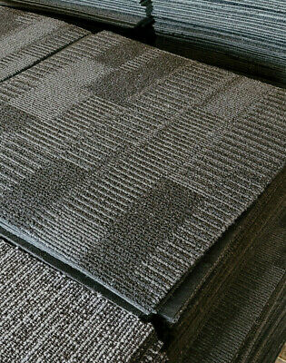 £25 • Buy 20x INTERFACE Grey CARPET TILEs Great Condition Quantity Available