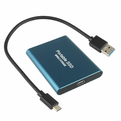 AU57.89 • Buy External Hard Drive Portable SSD Type-C USB 3.0 Solid State Drive
