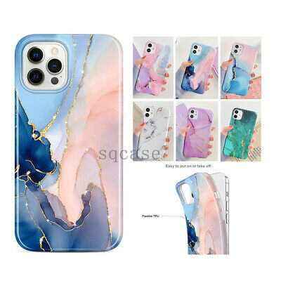 AU8.99 • Buy For IPhone 12 Pro Max 12 Mini 11 XS XR 8 7 ShockProof Marble Silicone Case Cover