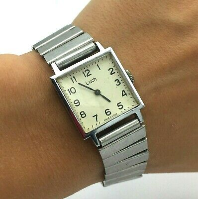 £20.50 • Buy Soviet Square Vintage Classic Watch TESTED Mechanical Collectible LUCH Bracelet