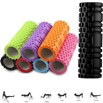 AU24.53 • Buy Foam Fitness Roller Deep Tissue Massage Grid Muscle Trigger Point Muscles Gym UK