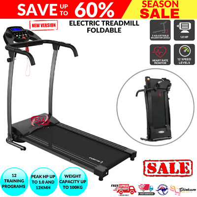 AU386.46 • Buy Electric Treadmill Adjustable Incline Home Gym Cardio Exercise Machine Fitness