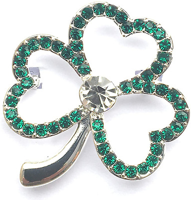 £13.24 • Buy Equilibrium Silver Plated Shamrock Brooch