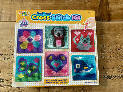 £5 • Buy Craft Set Cross Stitch Kit Kids 6 Traditional Children Kids Toy Tapestry Sewing