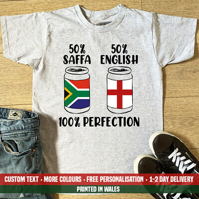 £10.99 • Buy 50% Saffa English 100% Perfection Beer Can T Shirt Funny Stag South Africa Party