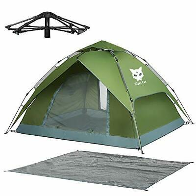 AU187.79 • Buy Pop Up Tent 3 4 Man Person Camping Waterproof Tent - Automatic