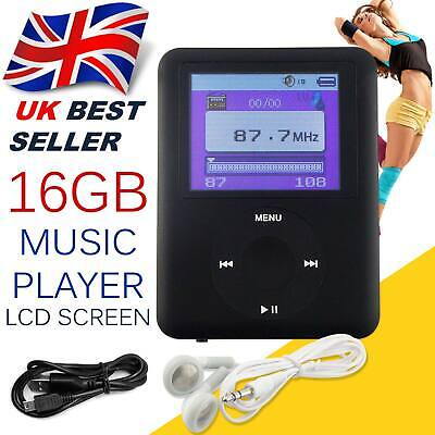 £11.45 • Buy Music MP3 Media Player 16GB Internal Memory With Video And Voice Recorder Games