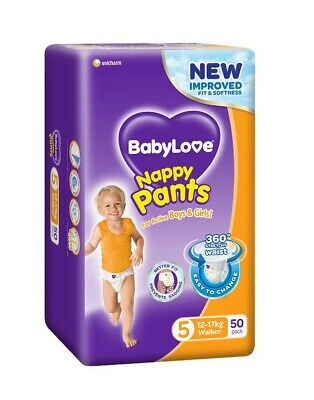 AU28.95 • Buy New 12-17kg X 50 BabyLove Diaper Toddler Walker Nappy Pants Baby Nappies