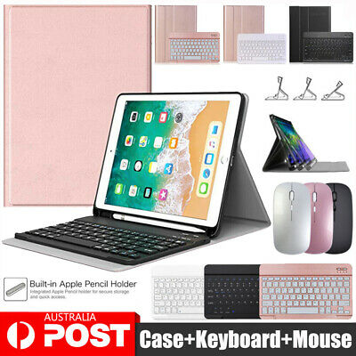 AU22.95 • Buy Keyboard Mouse & Smart Case For IPad 5/6/7/8th Gen 10.2  Air1/2/3/4th Pro 10.5