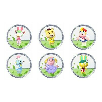 AU14.55 • Buy All 6 Pcs Animal Crossing Sanrio Amiibo NFC Compatible Round Cards New