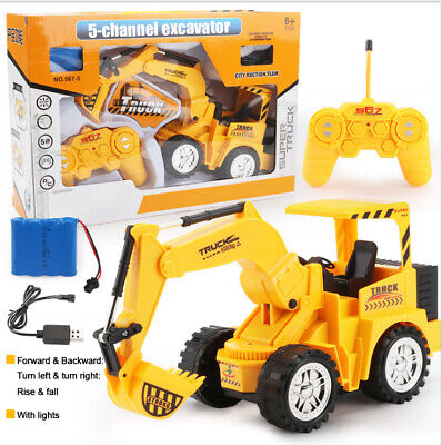 Remote Control Excavator Construction Vehicle Truck Digger RC Car Toy 5 Channel • 13.99£