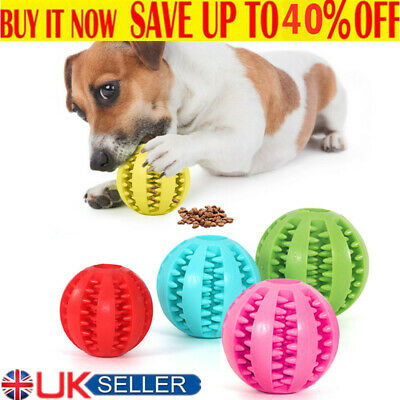 £3.96 • Buy Pet Puzzle Toy Food Dispenser Tough-Treat Ball Dog Interactive Puppy Play Toys