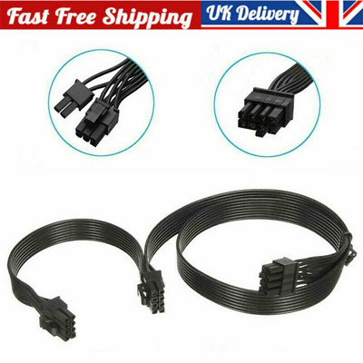 PCI-e 8Pin To DUAL 8(6+2) Pin Cable For CORSAIR AX Series Modular Power Connects • 5.72£