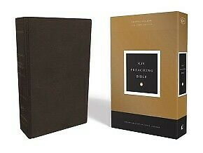 AU87.15 • Buy KJV, Preaching Bible, Premium Calfskin Leather, Brown, Comfort Print: Ho .. NEW