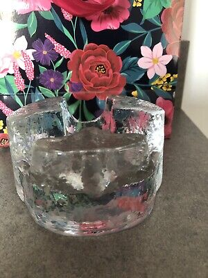 £10 • Buy Vintage  Heavy Textured Glass Ashtray Weighs Over 1 Kg 12 Cm Diam 6.25 Cm Tall