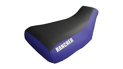 $32.98 • Buy Fits Honda Rancher 350 Seat Cover 2001 To 2006 With Logo Blue Sides Black Top
