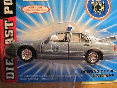 $14.99 • Buy 2 Maine State Police Road Champs Scale 1:43 Diecast Ford Crown Vic New