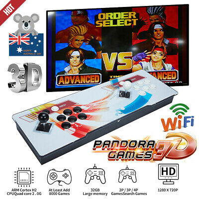AU258.88 • Buy 2021 Pandora Box 8000 3D Games In1 Home Stick Arcade Console Video HDMI WIFI New