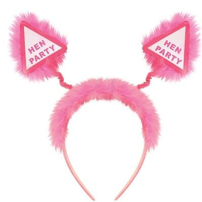 £2.89 • Buy Deely Boppers Hen Party Pink Fluffy Head Band Alice Band Celebration Bride To Be