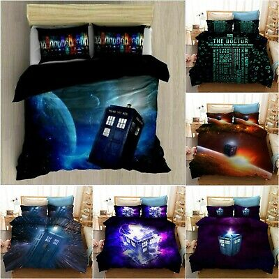 £25.99 • Buy Doctor Who Bedding Set TV Show Quilt Covers Pillowcase Duvet Cover Gift Bed Sets