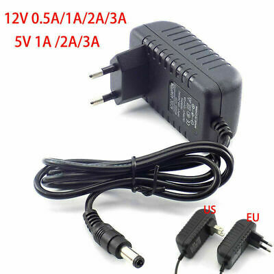 £3.13 • Buy DC 5V 12V 0.5A 1A 2A 3A Power Supply Charger Adapter Transformer For LED Strip