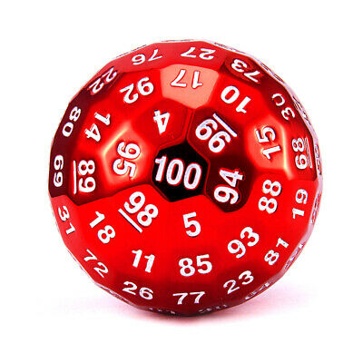 AU34.72 • Buy 100 Sided Dice Ancient Metal Dice D100 DND Dice For D&D Role Playing Game MTG