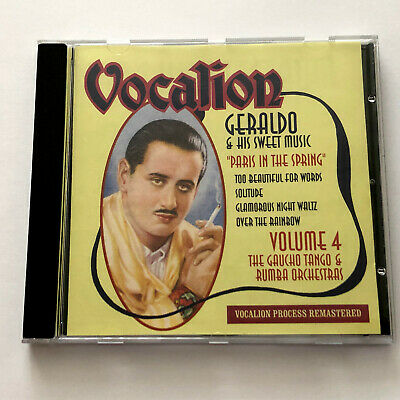 £16.99 • Buy Geraldo And His Sweet Music – Volume 4 : Paris In The Spring (Vocalion CD 2007)