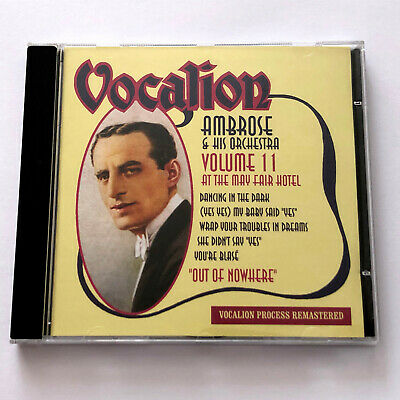 £29.99 • Buy Ambrose And His Orchestra – Volume 11 : Out Of Nowhere (Vocalion CD 2010)