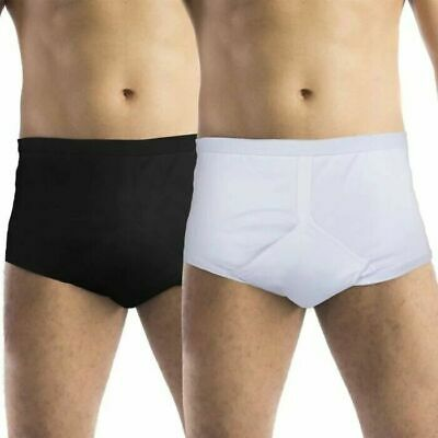 £13.98 • Buy Men's Cotton Incontinence Y Fronts Briefs Pants Underwear With Washable Pad