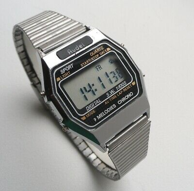£27.13 • Buy Audel PF PAM352 Chronograph Melody Alarm Vintage Digital Watch Early 1980s