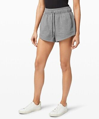 $ CDN65.91 • Buy Lululemon INNER GLOW HR SHORT 3  TERRY HEATHERED CORE MEDIUM GREY SZ 12