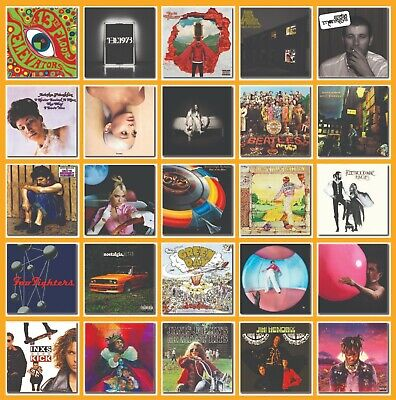 £3.99 • Buy Drink Coasters Album Covers Art Music Lovers - 25 Designs - Collection 01