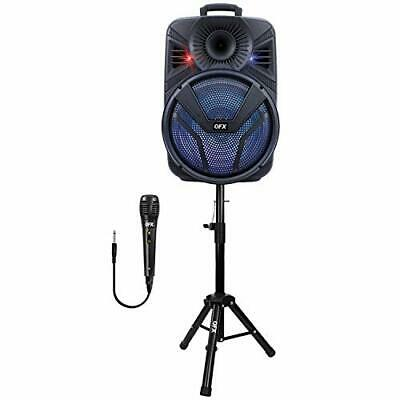 $ CDN179.87 • Buy QFX PBX-615SM 15  Bluetooth Rechargeable Speaker With LED Lights Microphone A...