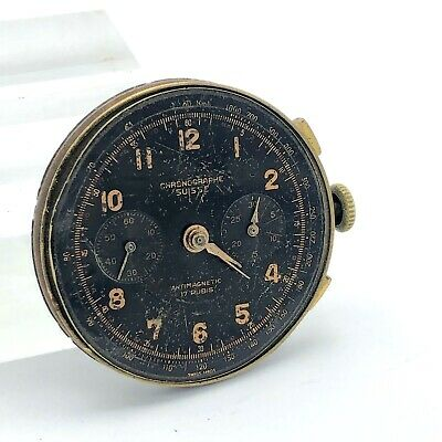 $ CDN165.70 • Buy Vintage Landeron Movement Swiss Chronograph Mens Watch Works Chronographe PARTS