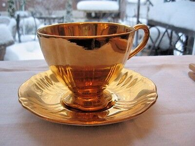 $ CDN109.17 • Buy Nice CUP SAUCER ROYAL WINTON GRIMWADES ENGLAND GOLD