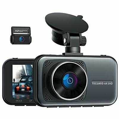 AU152.04 • Buy TOGUARD 4K Dual Dash Cam For Cars UHD 2160P+1080P Front And Rear Dash Camera, 3