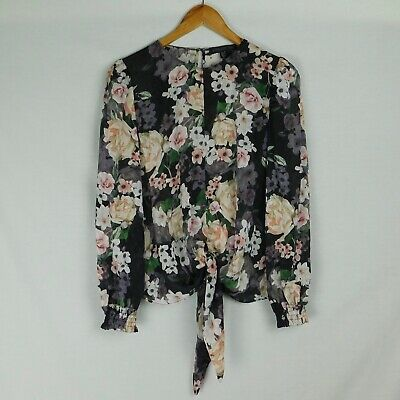 AU19.95 • Buy Size 8 FOREVER NEW Blouse, Tie-Front - Floral