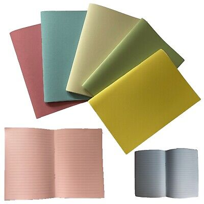 Eco Arts Recycled A5 Lined PASTEL Notebook Notepad Exercise Book 80 Page  • 3.99£