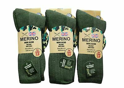 £5.99 • Buy 2 Pairs Mens Military Socks Army Thermal Hiking Boots Walking 2.8 Tog Warm  6-11