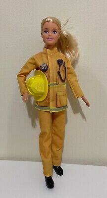$7.50 • Buy Barbie Careers 60th Anniversary Firefighter Doll Blonde