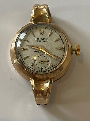 $ CDN775.62 • Buy Vintage 18ct Gold 18k Rolex Perpetual Automatic Bubble Back Watch Works 0.750