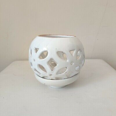 £5.50 • Buy White Moroccan Cut Out Flower Vase