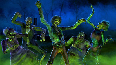 $ CDN4.83 • Buy Zombie Bash Halloween Decor Atmosfx Decorations Holiday 2021