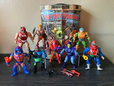 $500 • Buy Masters Of The Universe 8 Vintage Action Figures W/ Accessories And Case He-Man