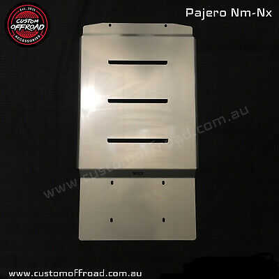 AU300 • Buy Pajero Nm-Nx Transmission Protection Bash Plate 4mm Stainless Steel  Heavy Duty