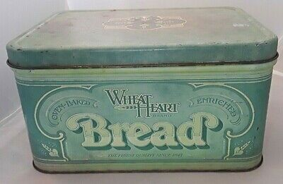 $10 • Buy Vintage 1977 Wheat Heart Brand Tin Bread Box, R & D Company,  Oven Baked