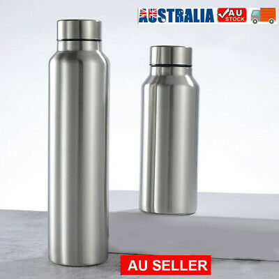 AU20.22 • Buy PortableStainless Steel Single Wall Large Capacity Water Bottle Outdoor Supply
