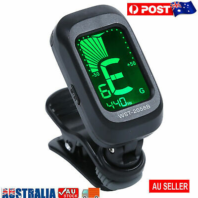 AU13.78 • Buy Guitar Tuner LCD Display Compact ABS Clip On Chromatic Digital Tuner For Guitar