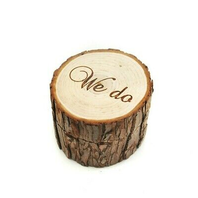 Wooden Ring Holder Case Gift Rustic Wedding Engagement Ring Box #sx • 5.89£