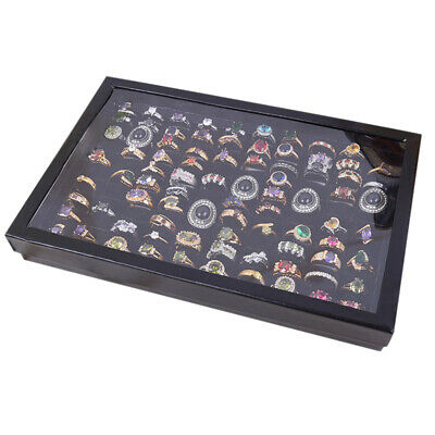 AU11.95 • Buy 100 Jewelry Ring Display Organizer Holder Case Tray Velvet Earring Storage Box